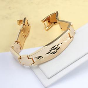 Шикарный мужской браслет, позолота 18к Из скромного только цена.