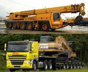 Аренда автокранов от 40 до 400 тонн,  перевозки негабаритных грузов.